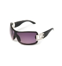 DG Designer Black Silver Logo Sunglasses