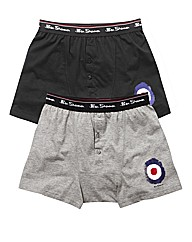 Ben Sherman Pack of 2 Print Boxer Shorts