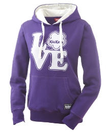 Kickers Love Logo Over Head Hoody
