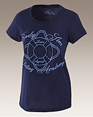 Body Star Ladies Nautical Scoop Neck Tee