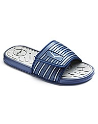 JCM Mens Slide Flip Flops Extra Wide Fit
