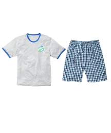 Jacamo Woven Short & T-Shirt Pyjama Set