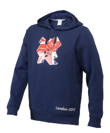 Mens Union Jack Logo Hood