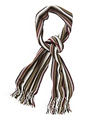 Weird Fish Brown Striped Scarf