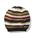 Weird Fish Brown Striped Beanie
