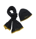 Ben Sherman Boxed Navy Hat & Scarf Set
