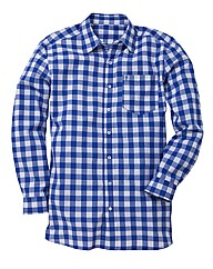 Jacamo Blue L/S Western Shirt Regular