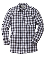 Jacamo Black L/S Western Shirt Regular
