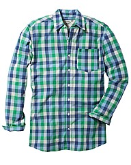 Jacamo Green L/S Western Shirt Regular