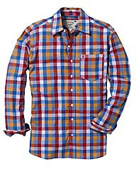Jacamo Orange L/S Western Shirt Regular