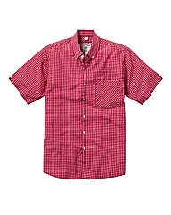 Jacamo Short Sleeve Check Shirt Long