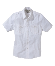 Jacamo Short Sleeve Military Linen Shirt