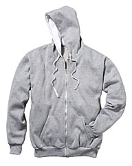 Jacamo Grey Marl Full Zip Hoodie Long