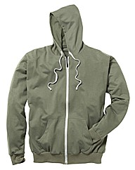Jacamo Full Zip Basic Hoodie Long