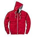 Jacamo Red Full Zip Basic Hoodie Reg