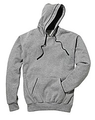Jacamo Over Head Piped Hoodie Long