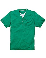 Jacamo Green Layered T-Shirt Regular