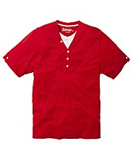 Jacamo Red Layered T-Shirt Long