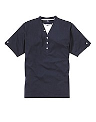 Jacamo Navy Layered T-Shirt Long