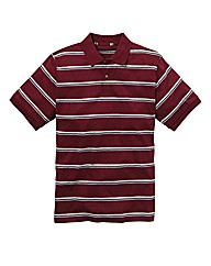Jacamo Engineered Stripe Polo Shirt Reg