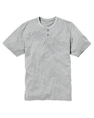 Jacamo Short Sleeve Grandad Top Long