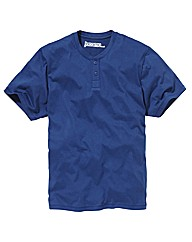 Jacamo Short Sleeve Grandad Top Regular