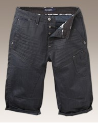 Jacamo Coated Denim 3/4 Pants