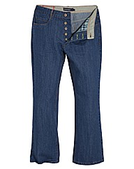 Jacamo Button Fly Bootcut Jeans 27In Leg