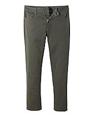 Jacamo Khaki Gaberdine Mens Jeans 33 In