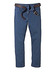 Jacamo Blue Gaberdine Mens Jeans 35 In