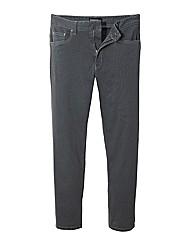 Jacamo Charcoal Gaberdine Jeans 35 In