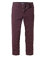 Jacamo Wine Gaberdine Mens Jeans 35 In