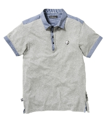 Mish Mash Mens Woven Collar Polo Shirt