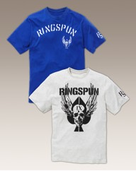 Ringspun Pack Of 2 Graphic T-Shirts