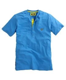Voi Mens Button Neck T-Shirt