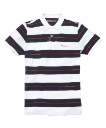 Ben Sherman Stripe Polo Shirt Long