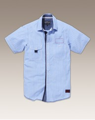 Nickelson Stripe Short Sleeve Shirt Long