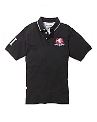 Flintoff By Jacamo Crest Polo Shirt Long