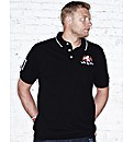 Flintoff By Jacamo Crest Polo Shirt Reg