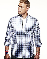 Flintoff By Jacamo Oxford Shirt Long