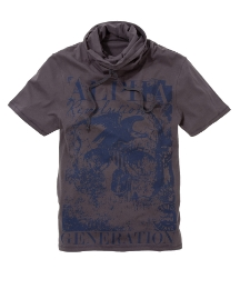 Label J Cowl Neck Graphic T-Shirt