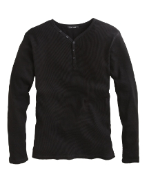 Jacamo Long Sleeve Ribbed T-Shirt Long