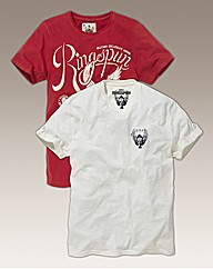 Ringspun Pack Of Two Tees