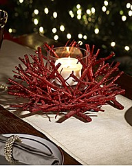 Glitter Twig Candle Holder