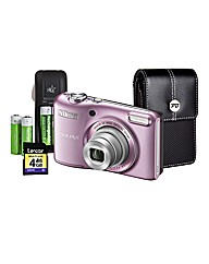 Nikon Coolpix 20MP Camera and Kit - Pink