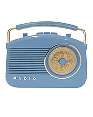 Steepletone Retro Radio - Blue
