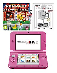 3DS XL Console Pink Funfair Party Games