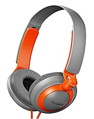 Sony Headphones - Orange/Grey