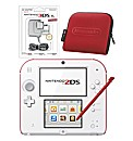 Nintendo 2DS White+Red & Carry Case