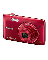 Nikon Coolpix S3500 20MP 7xzoom Camera -
